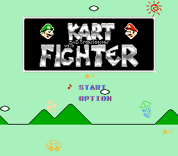 Kart Fighter Title Screen
